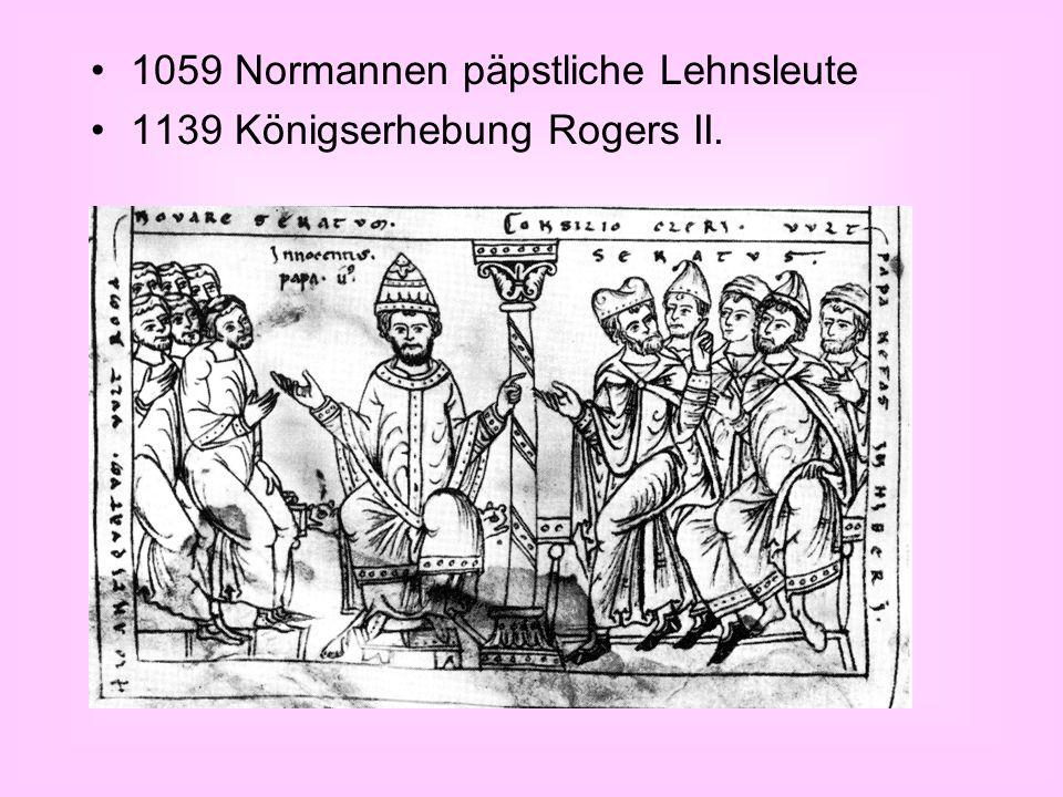 1059 Normannen päpstliche Lehnsleute