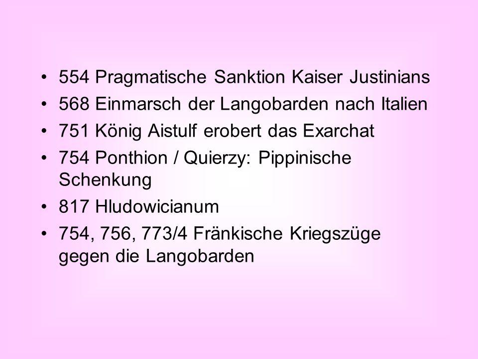 554 Pragmatische Sanktion Kaiser Justinians
