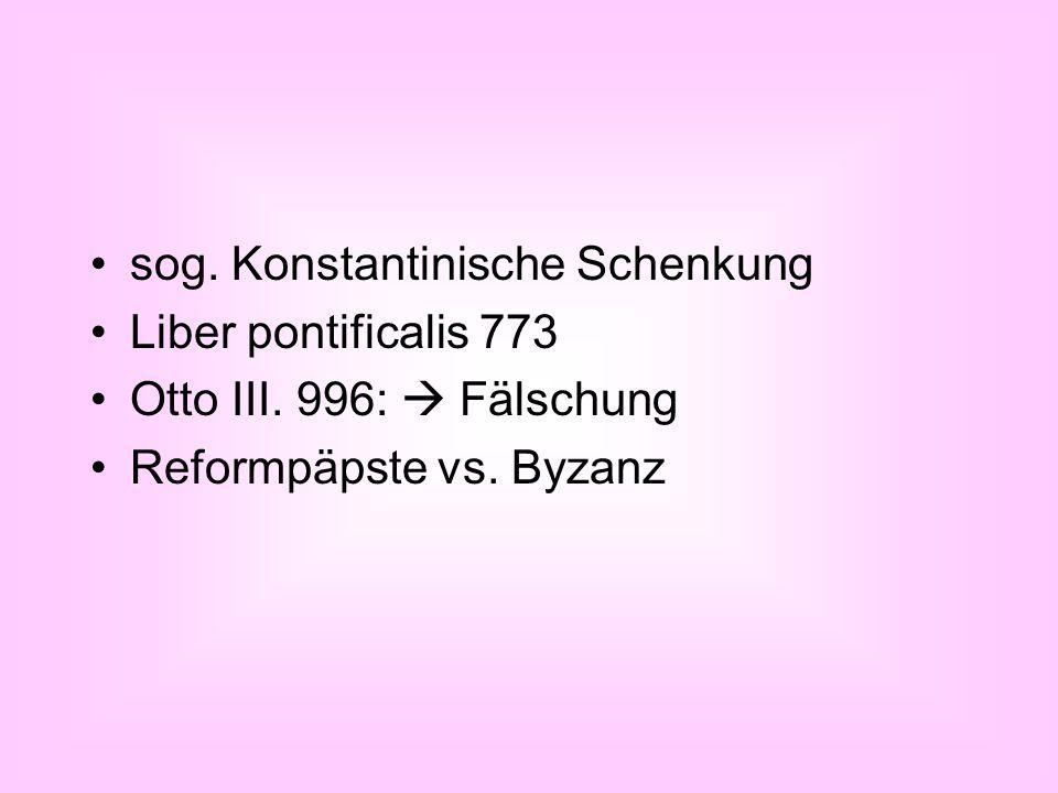 sog. Konstantinische Schenkung