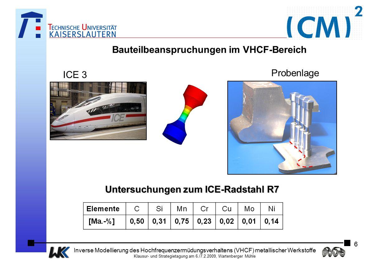 Bauteilbeanspruchungen im VHCF-Bereich