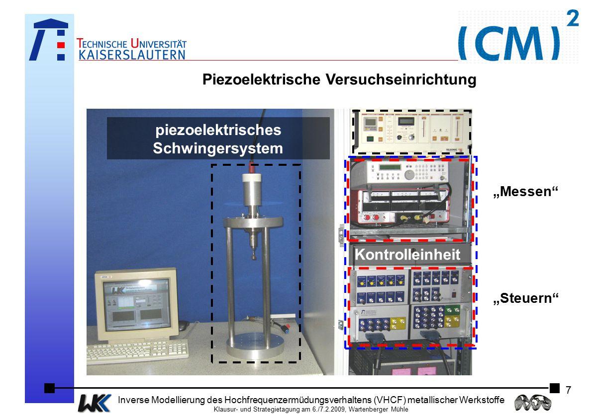 Piezoelektrische Versuchseinrichtung piezoelektrisches Schwingersystem