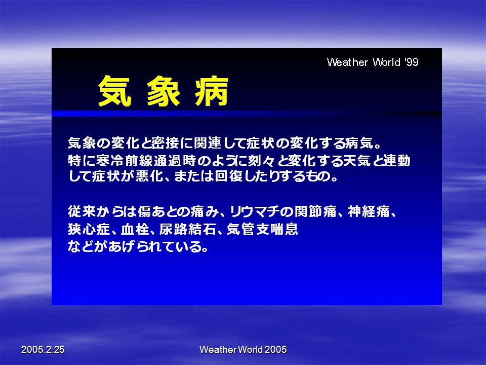 Weather World 2005