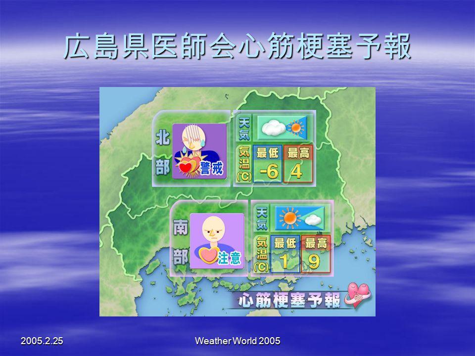 広島県医師会心筋梗塞予報 2005.2.25 Weather World 2005