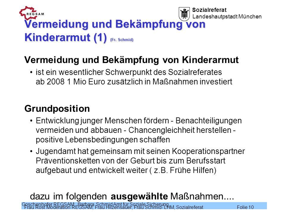 Vermeidung und Bekämpfung von Kinderarmut (1) (Fr. Schmid)