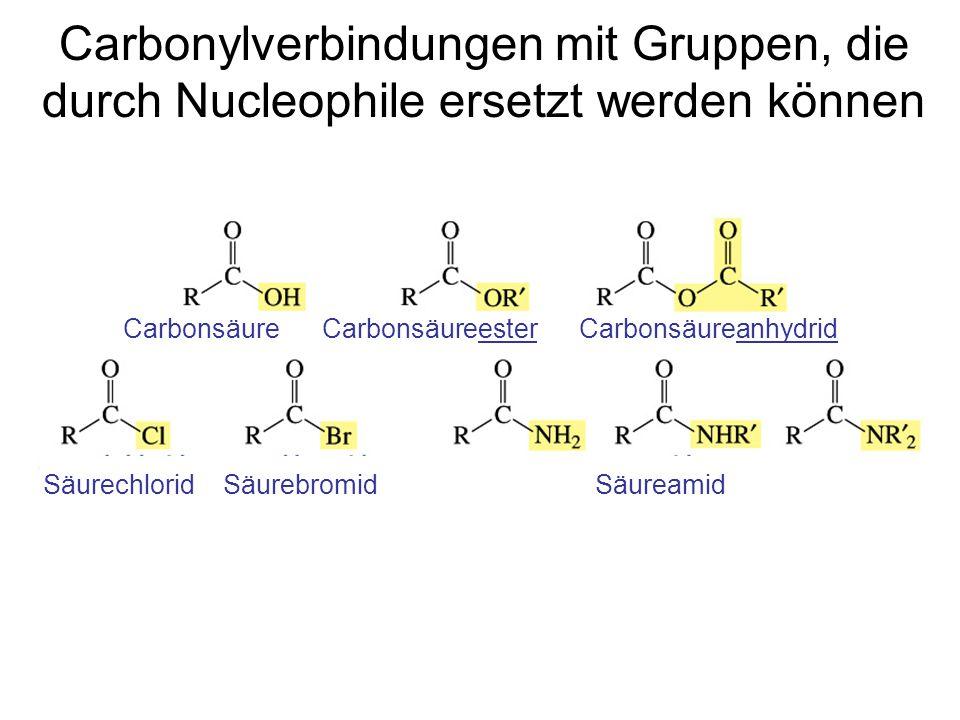 Carbonylverbindungen mit Gruppen, die durch Nucleophile ersetzt werden können