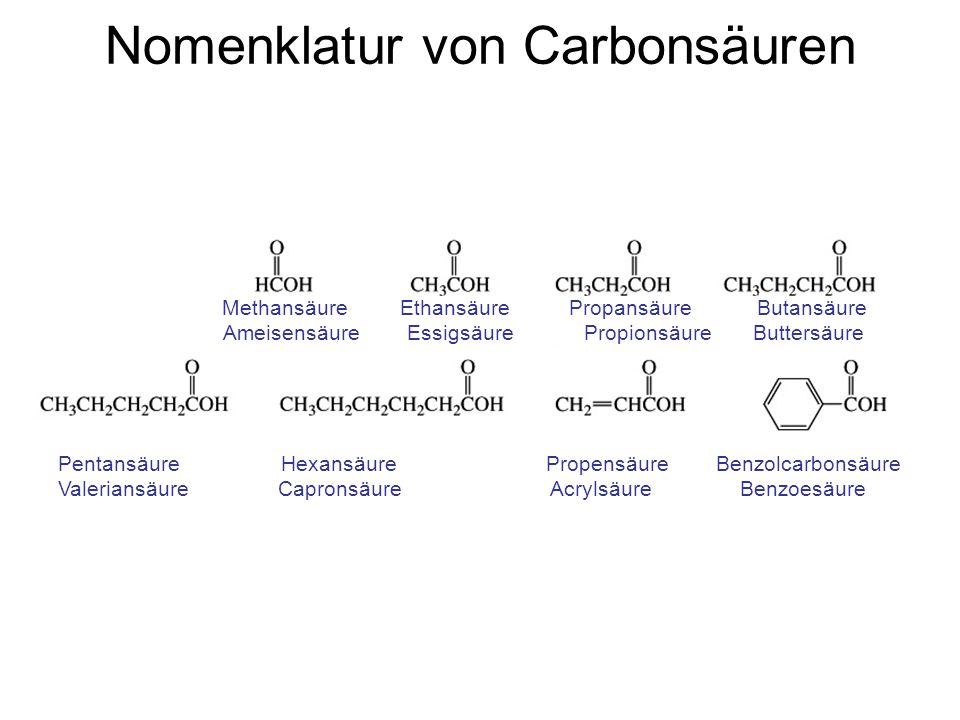 Nomenklatur von Carbonsäuren