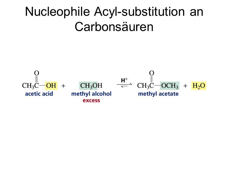 Nucleophile Acyl-substitution an Carbonsäuren