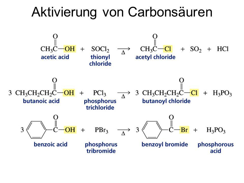 Aktivierung von Carbonsäuren