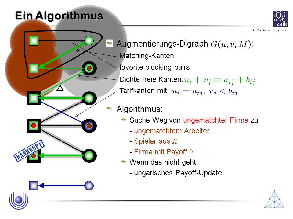 Ein Algorithmus Augmentierungs-Digraph : Algorithmus: Matching-Kanten