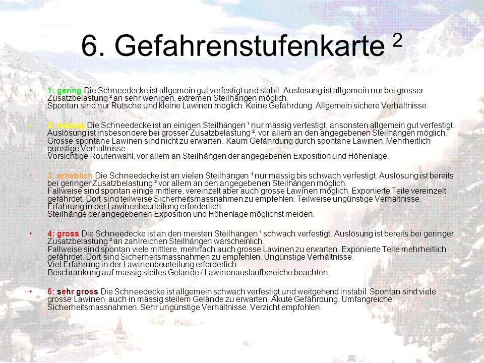6. Gefahrenstufenkarte 2