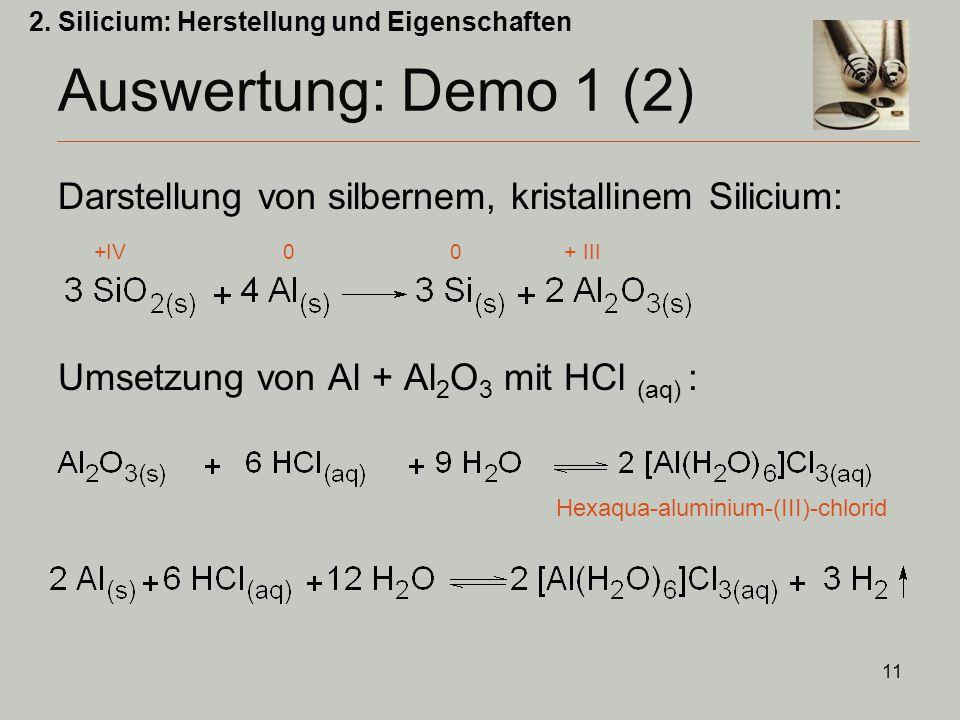 2. Silicium: Herstellung und Eigenschaften