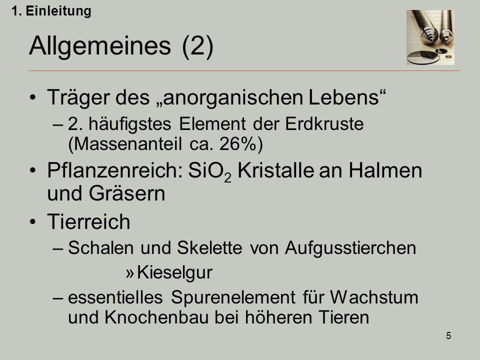 """Allgemeines (2) Träger des """"anorganischen Lebens"""