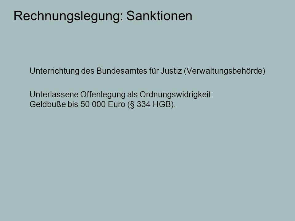 Rechnungslegung: Sanktionen