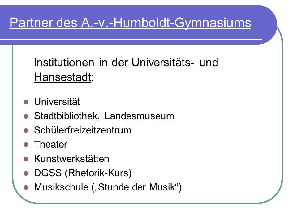 Partner des A.-v.-Humboldt-Gymnasiums