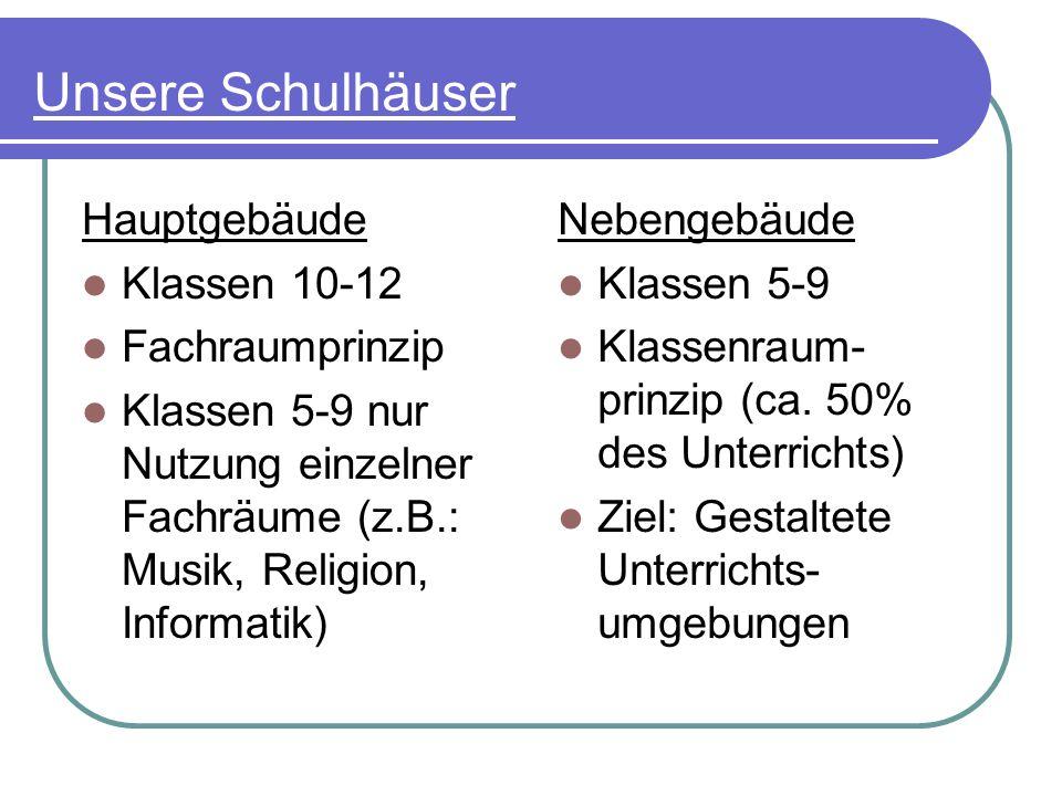 Unsere Schulhäuser Hauptgebäude Klassen 10-12 Fachraumprinzip
