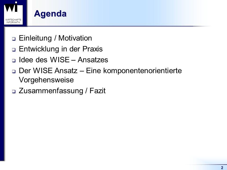 Agenda Einleitung / Motivation Entwicklung in der Praxis
