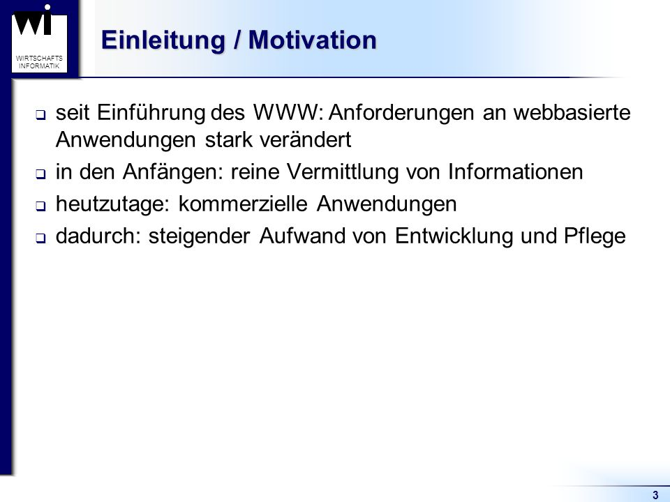 Einleitung / Motivation