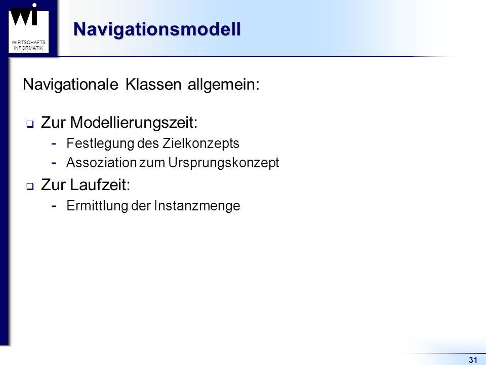 Navigationale Klassen allgemein: