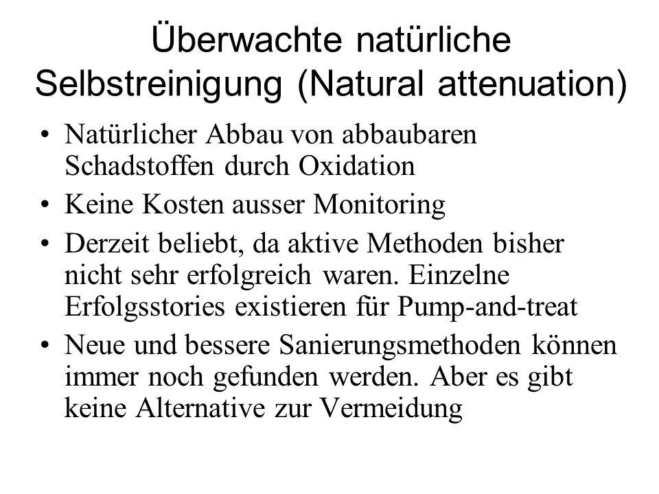 Überwachte natürliche Selbstreinigung (Natural attenuation)