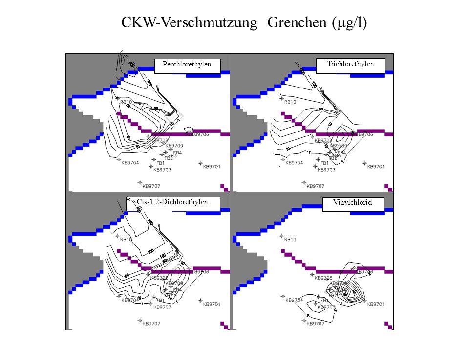 CKW-Verschmutzung Grenchen (mg/l)