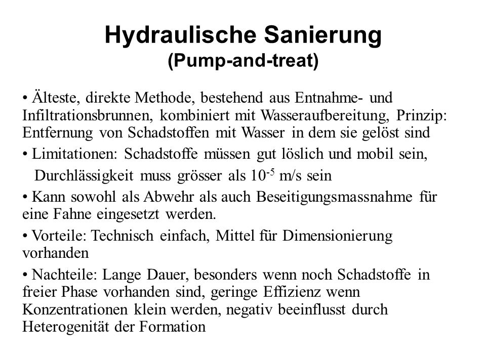 Hydraulische Sanierung (Pump-and-treat)