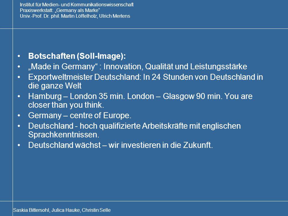Botschaften (Soll-Image):
