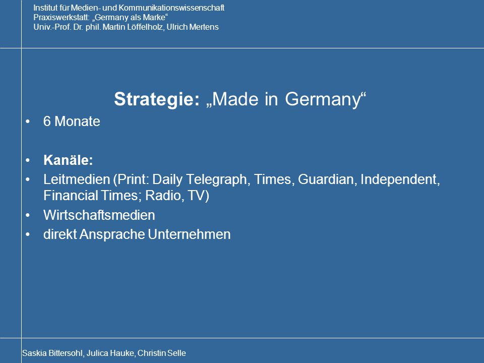 "Strategie: ""Made in Germany"
