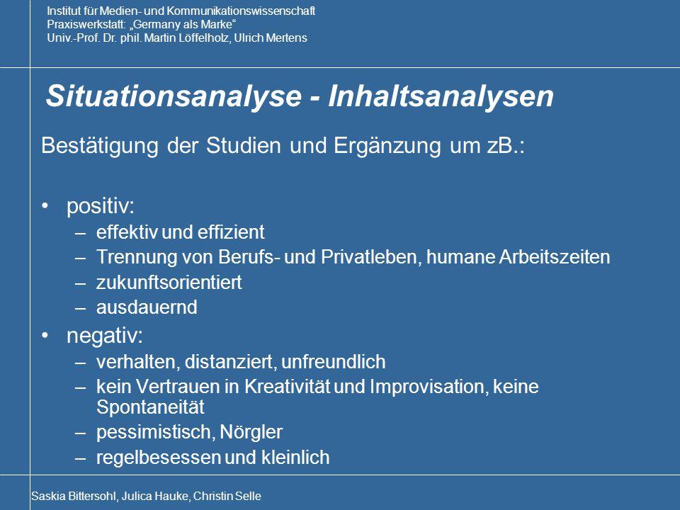 Situationsanalyse - Inhaltsanalysen
