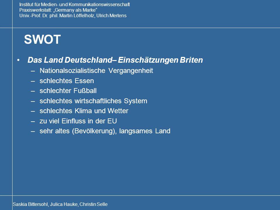 SWOT Das Land Deutschland– Einschätzungen Briten