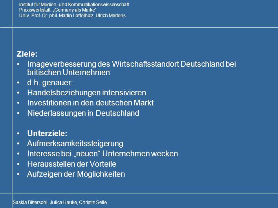Handelsbeziehungen intensivieren Investitionen in den deutschen Markt