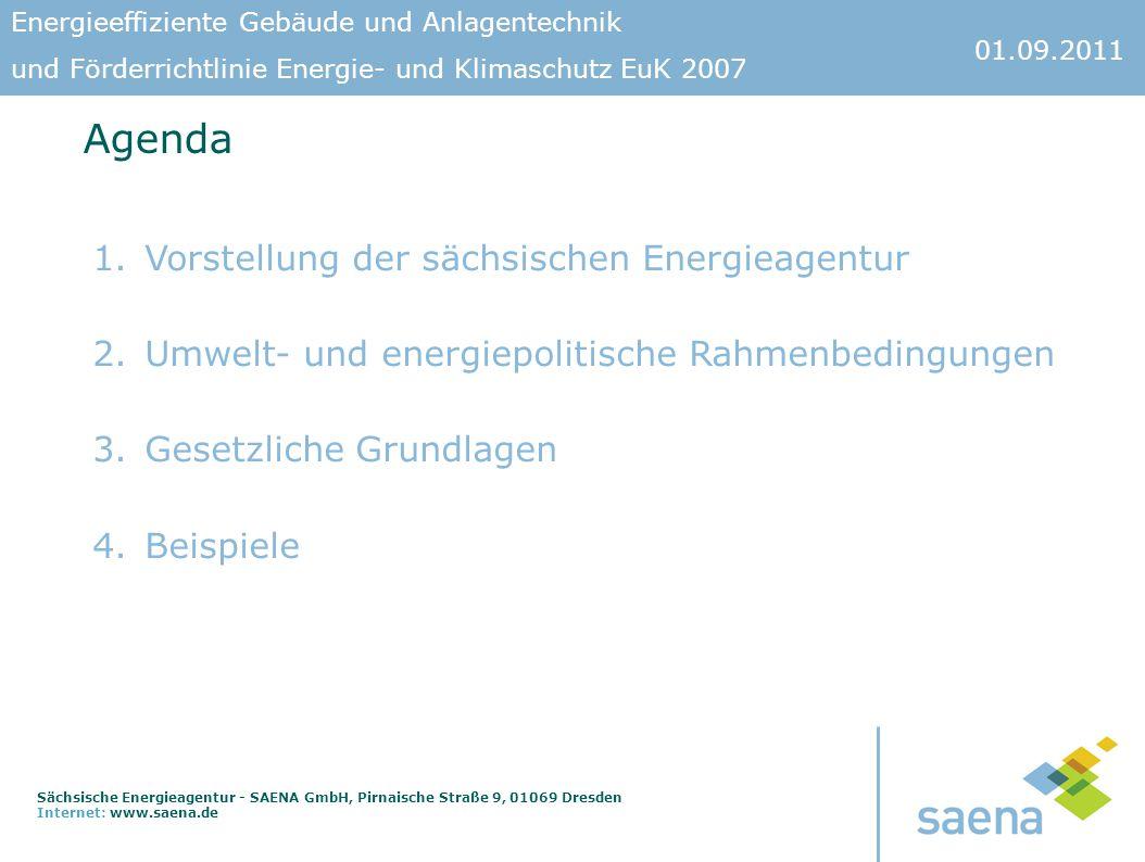 Agenda Vorstellung der sächsischen Energieagentur