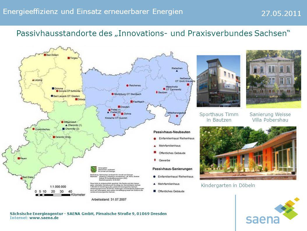 """Passivhausstandorte des """"Innovations- und Praxisverbundes Sachsen"""