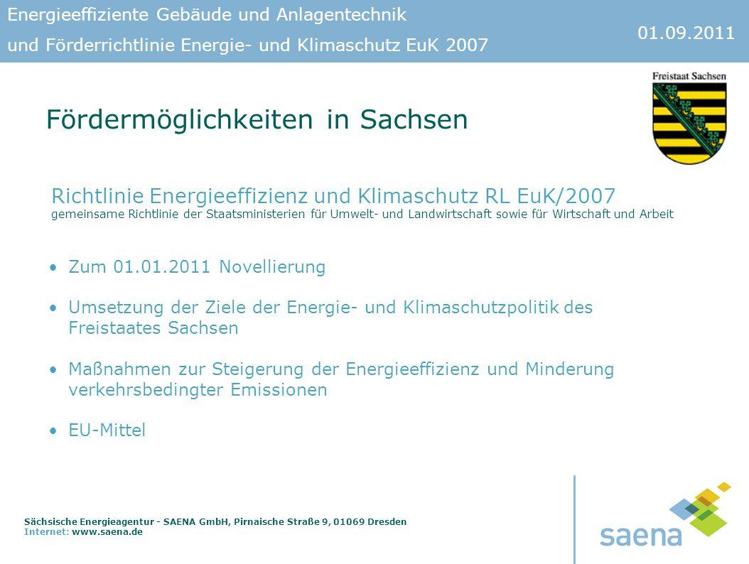 Fördermöglichkeiten in Sachsen