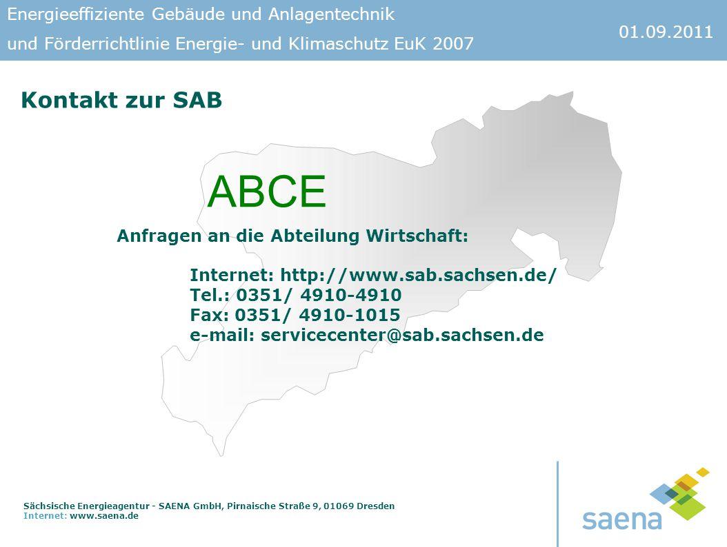 ABCE Kontakt zur SAB Anfragen an die Abteilung Wirtschaft: