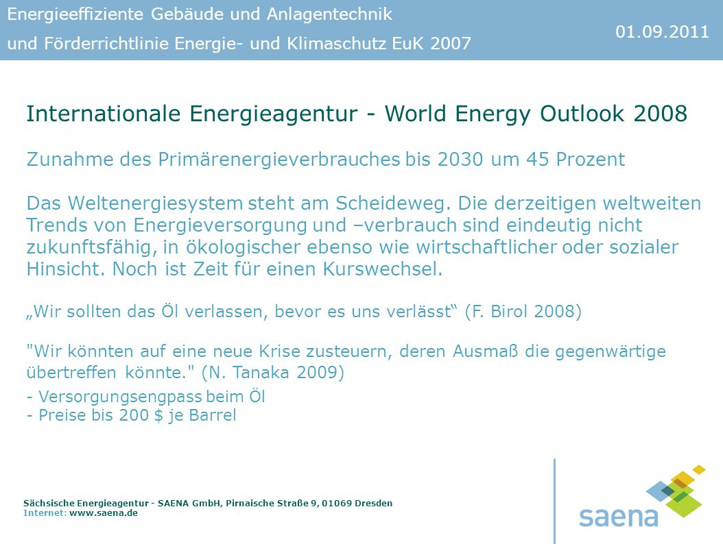 Internationale Energieagentur - World Energy Outlook 2008