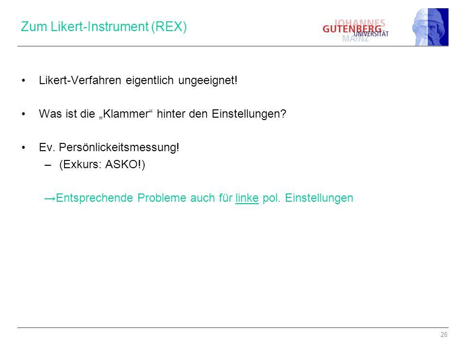 Zum Likert-Instrument (REX)