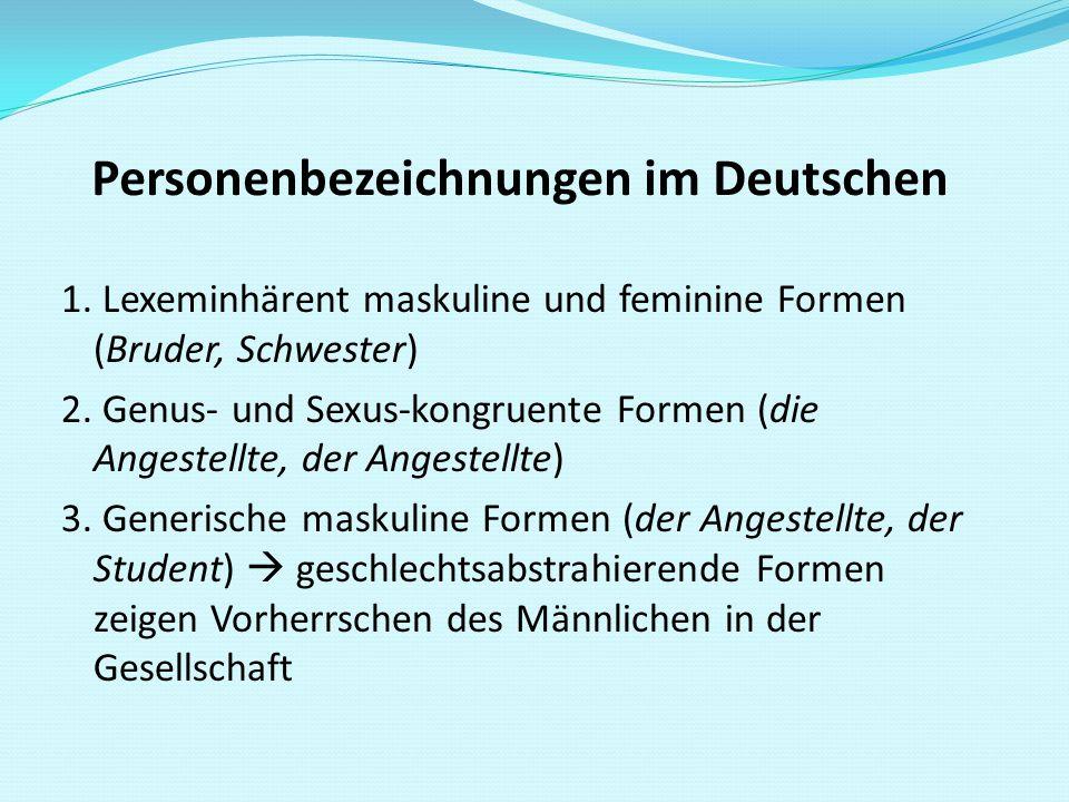 Personenbezeichnungen im Deutschen