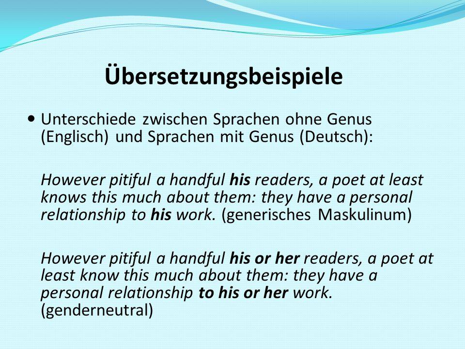 Übersetzungsbeispiele