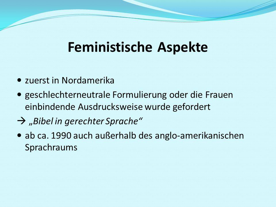 Feministische Aspekte