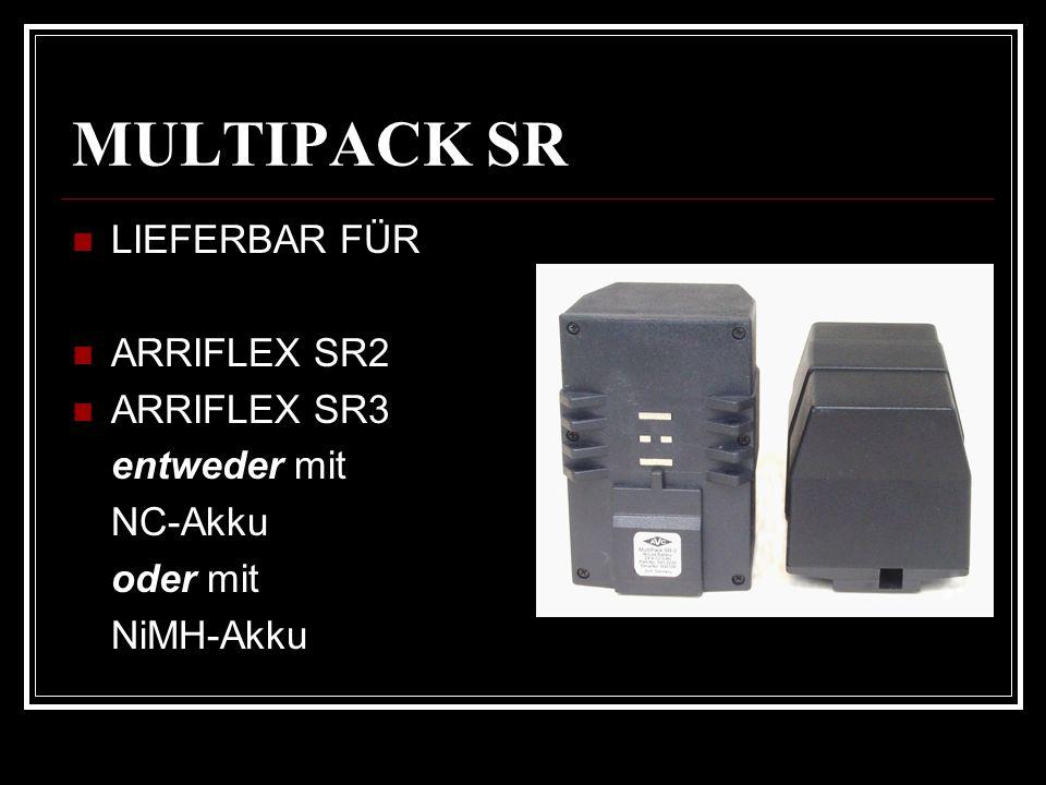 MULTIPACK SR LIEFERBAR FÜR ARRIFLEX SR2 ARRIFLEX SR3 entweder mit