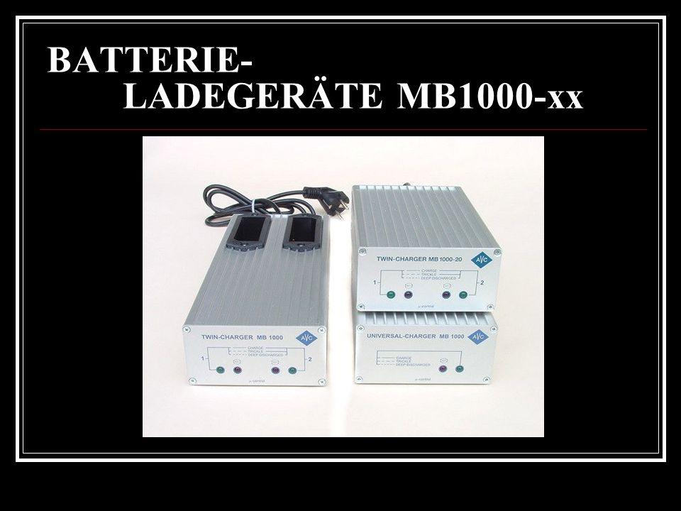 BATTERIE- LADEGERÄTE MB1000-xx