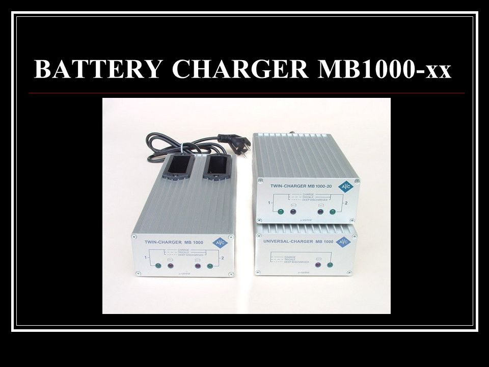 BATTERY CHARGER MB1000-xx