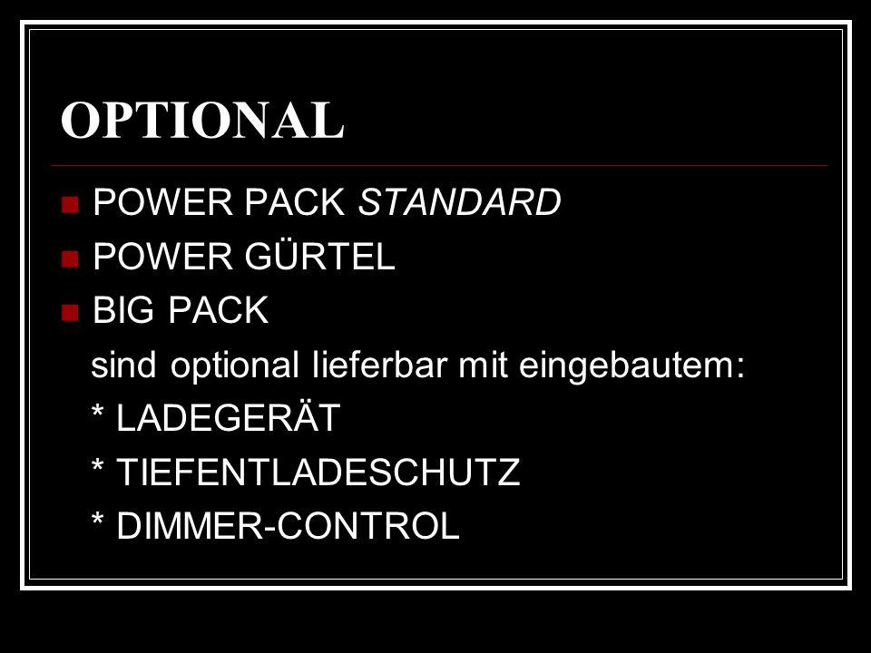 OPTIONAL POWER PACK STANDARD POWER GÜRTEL BIG PACK