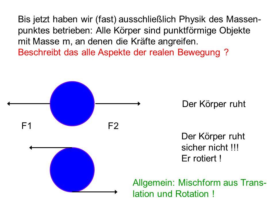 Bis jetzt haben wir (fast) ausschließlich Physik des Massen-
