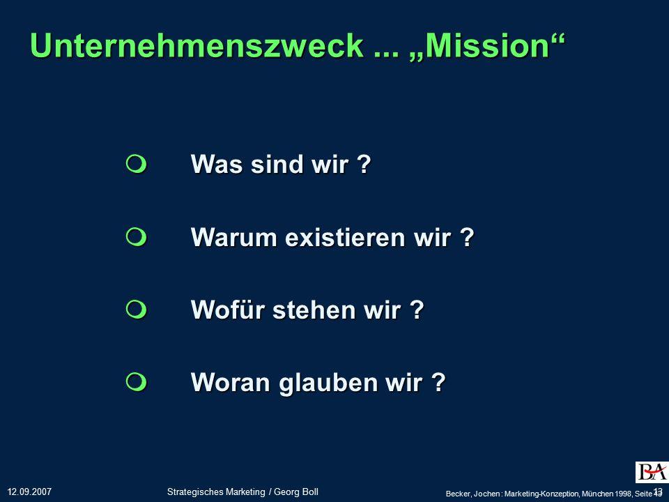 "Unternehmenszweck ... ""Mission"