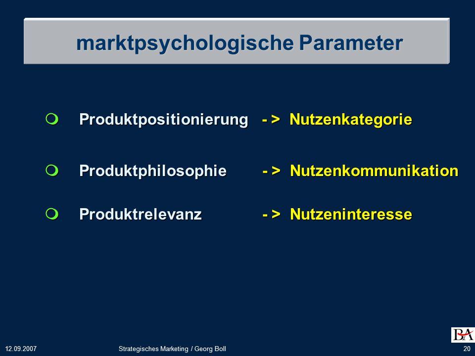 marktpsychologische Parameter