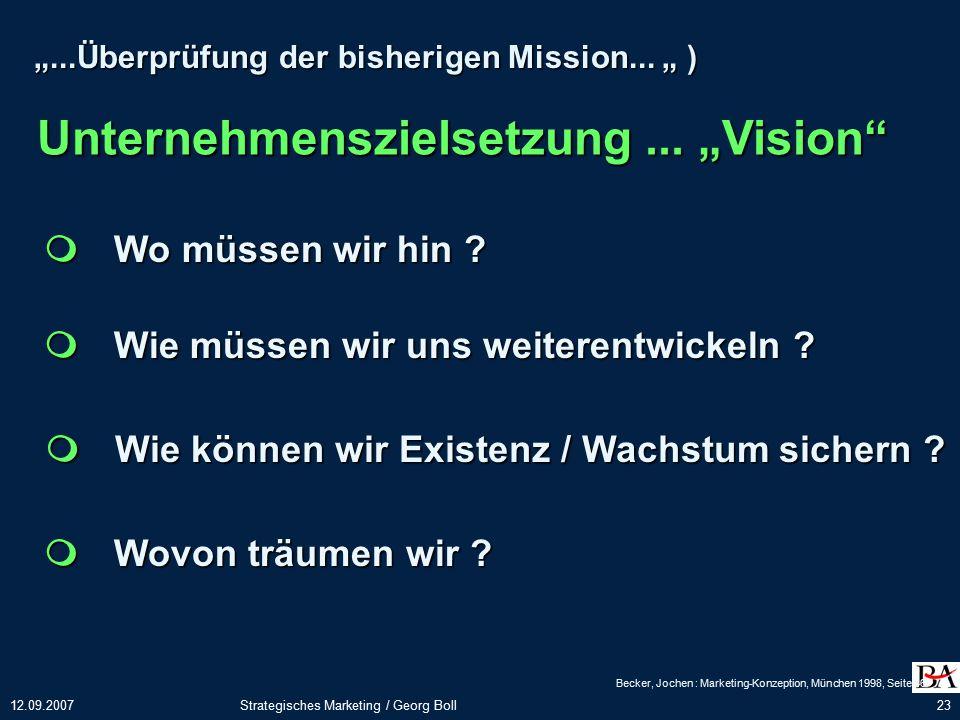 """Unternehmenszielsetzung ... """"Vision"""