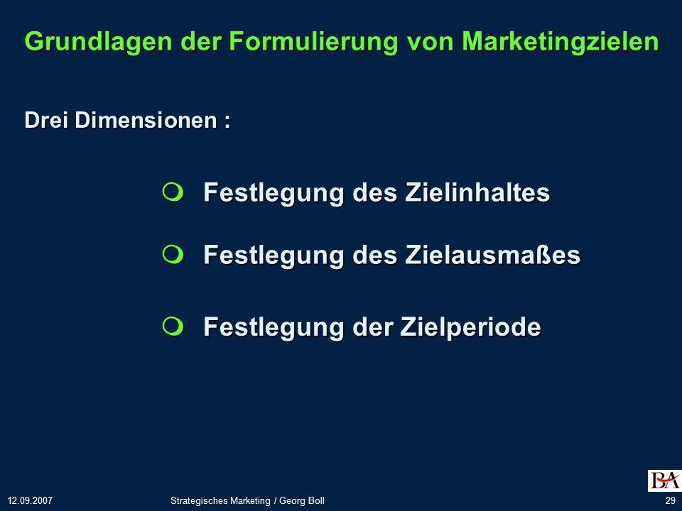 Grundlagen der Formulierung von Marketingzielen