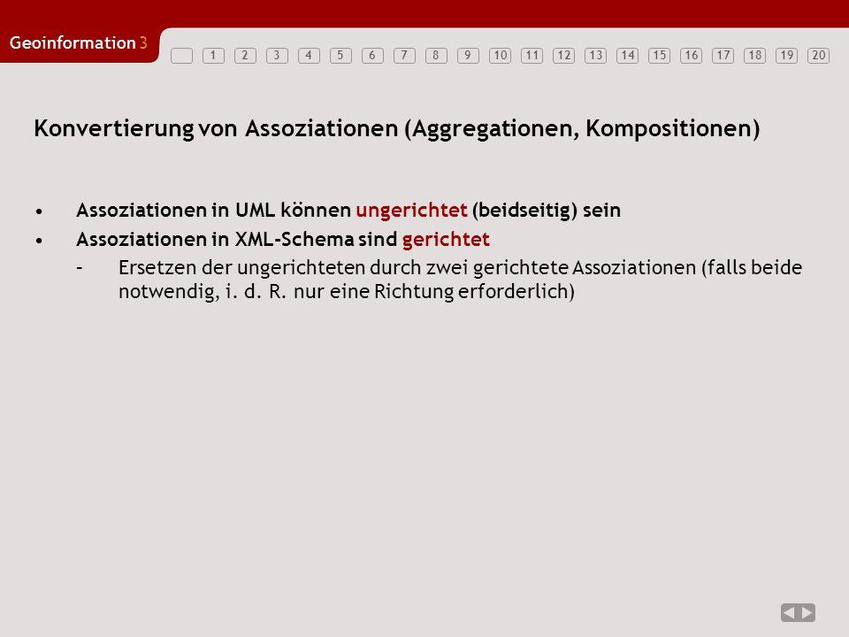 Konvertierung von Assoziationen (Aggregationen, Kompositionen)