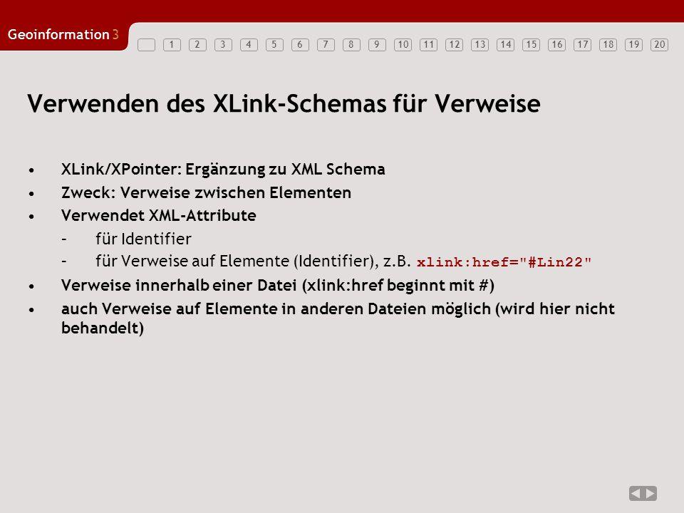 Verwenden des XLink-Schemas für Verweise